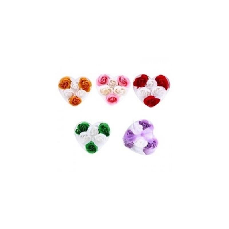 6 flores de jabón