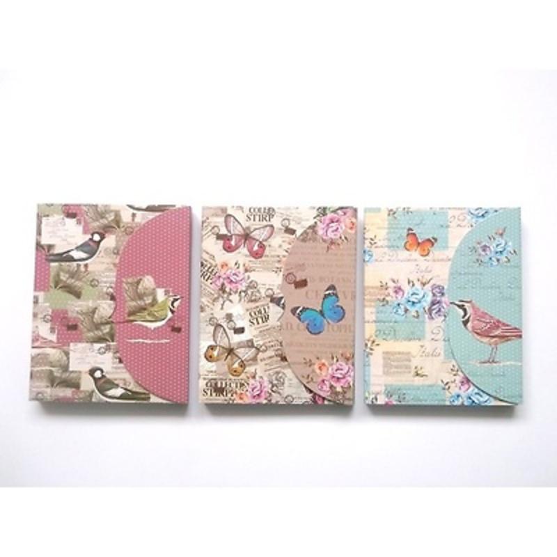 Bloc de notas mariposas y pájaros - Ref.2678