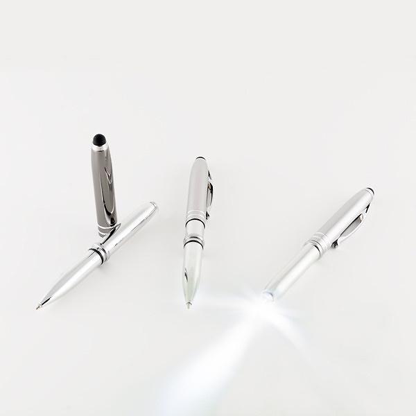 Bolígrafo aluminio con linterna y puntero ref.1140