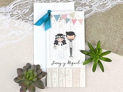 Cajas para los regalos de boda.