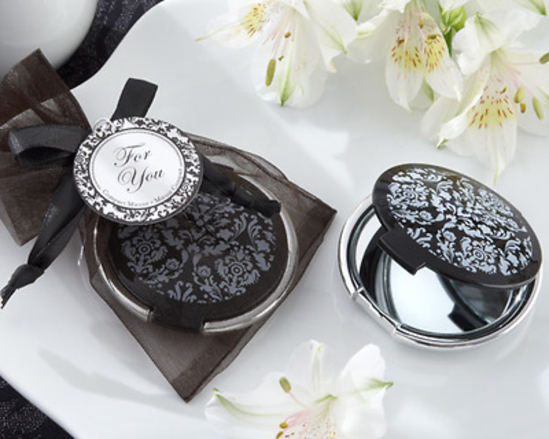 Detalle de boda espejo negro y blanco Ref.12 ETIQUETAS GRATIS