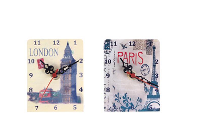 Detalle de boda reloj metálico Ref.2657 etiquetas GRATIS