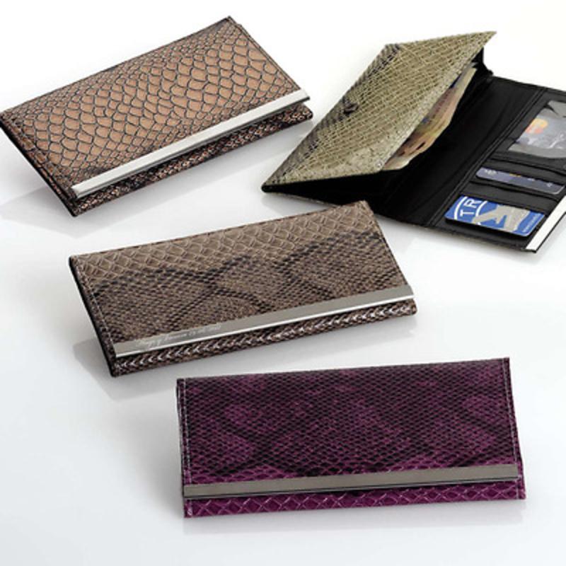 Detallede boda cartera piel de serpiente Ref.112 Etiquetas GRATIS.