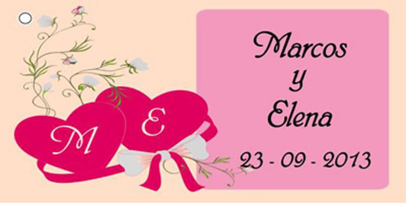 Etiqueta corazones - Modelo4
