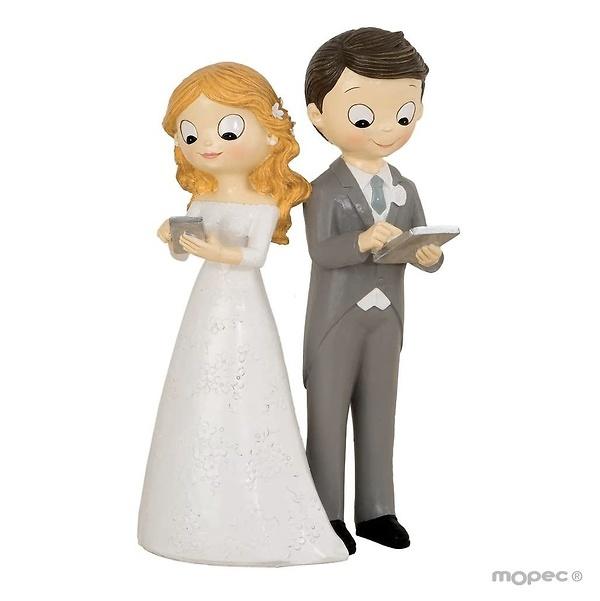 Figura pastel boda fútbol Ref.2863