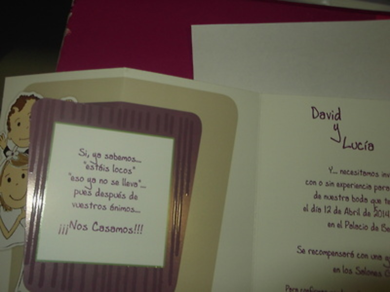 Invitación Cardnovel 34912 Impresión GRATIS a un color