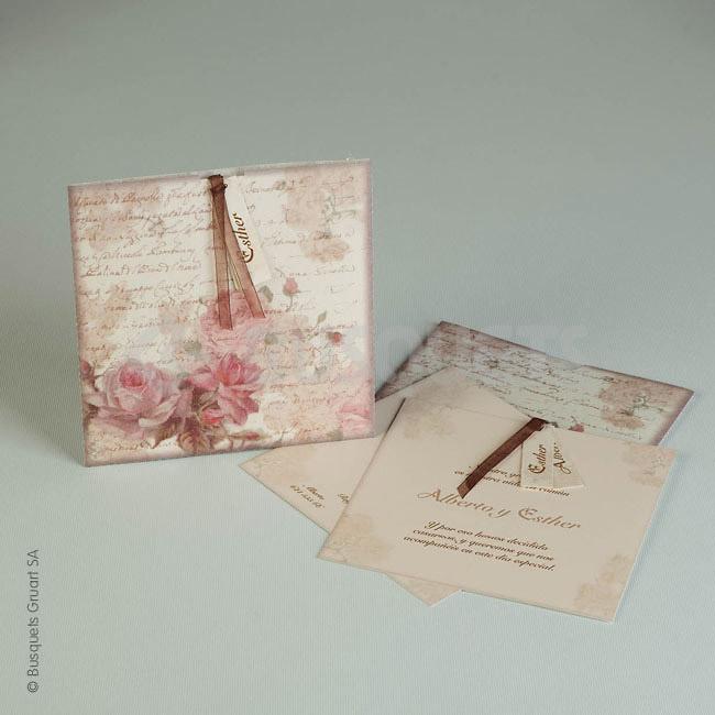 Invitación boda Ref.18943 IMPRESION GRATIS