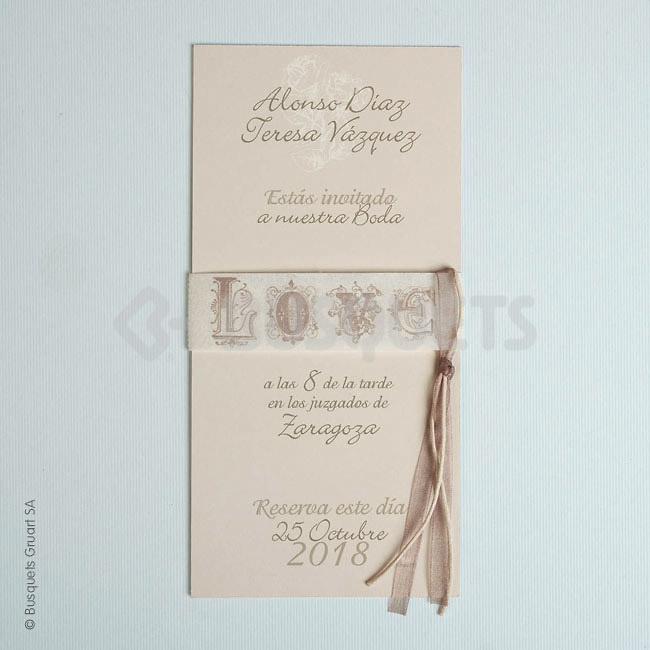 Invitación boda In Love Ref.18948