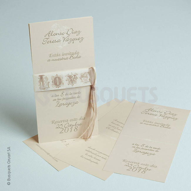 Invitación boda Re18948 IMPRESION GRATIS