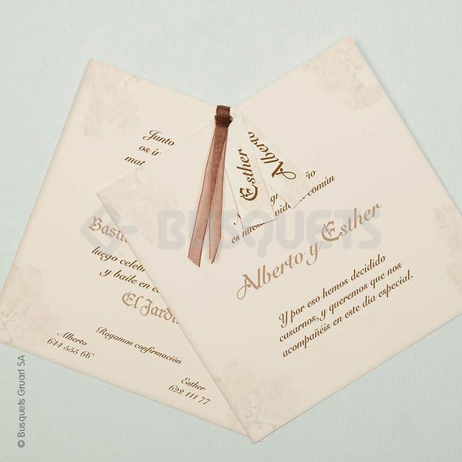 Invitación boda Ref.3204014300 IMPRESION GRATIS