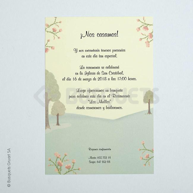 Invitación boda Ref.3205015342 IMPRESION GRATIS
