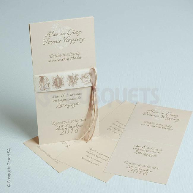 Invitación boda Ref.3205016805 IMPRESION GRATIS