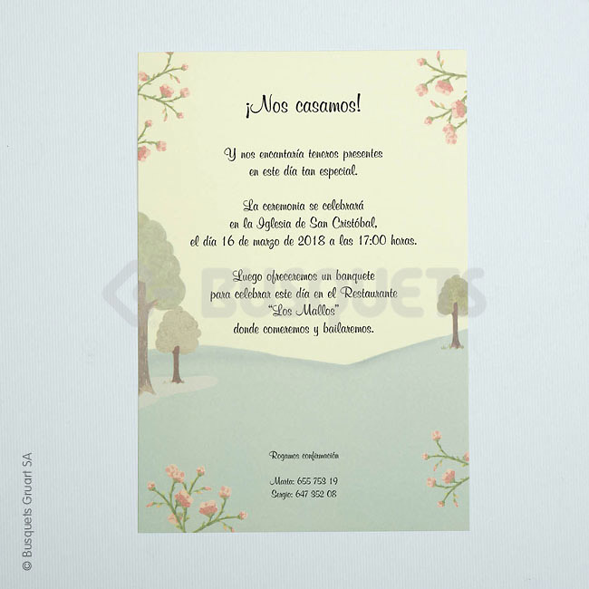 Invitación boda campestre ref.18929