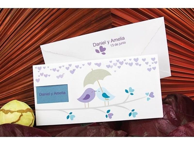 Invitación boda ref.100666. Impresión Gratis.