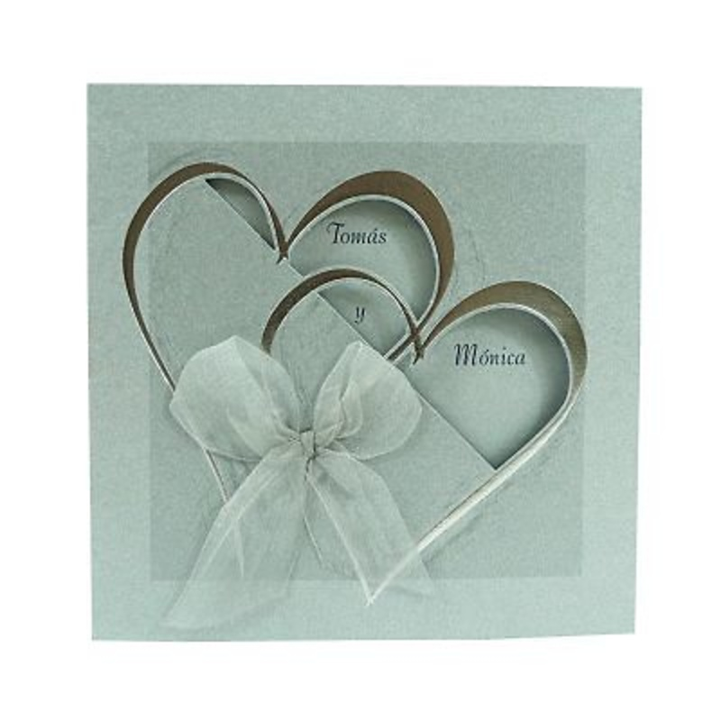 Invitación boda ref.26085 - Impresión GRATIS.