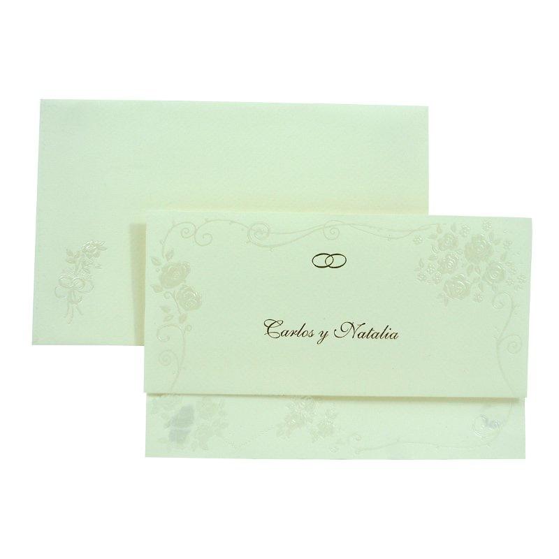Invitación boda ref.950002 - Impresión GRATIS.
