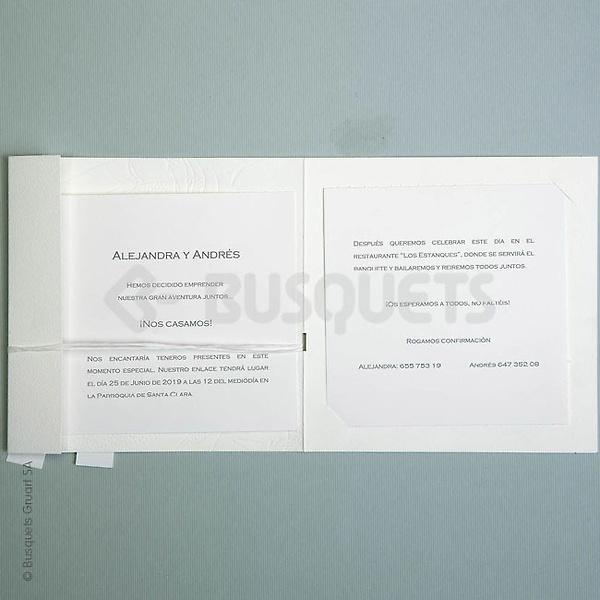 Invitación busquets ref.18132