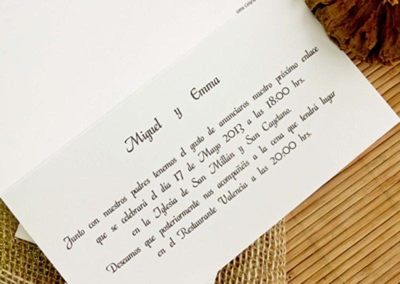 Invitación cardnovel Ref.32704 Impresión GRATIS