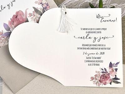Invitación cardnovel Ref.50665 Impresión GRATIS