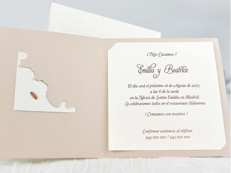 Invitación cardnovel ref.35814.