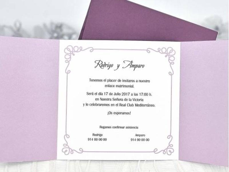 Invitación cardnovel ref.39104