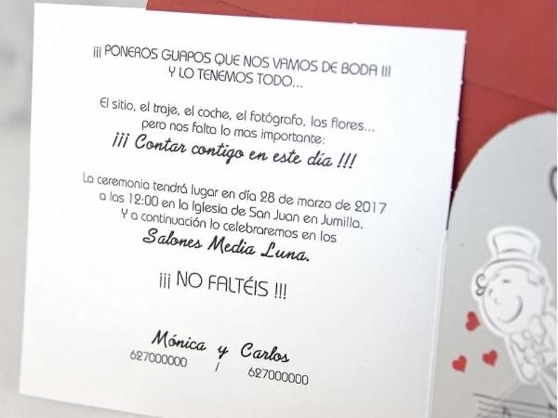 Invitación cardnovel ref.39106.