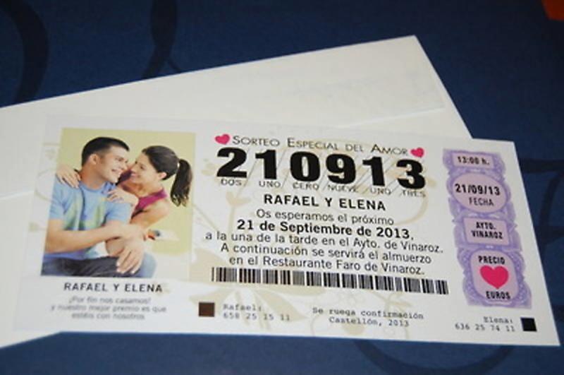Invitación décimo lotería Ref.50001 - IMPRESION GRATIS
