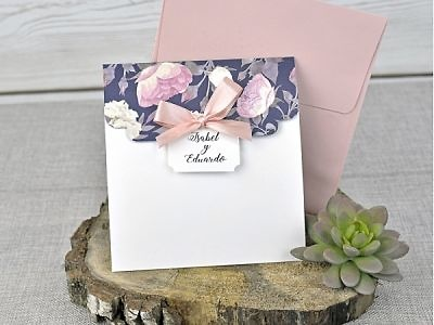 Invitación de boda vintage 39336
