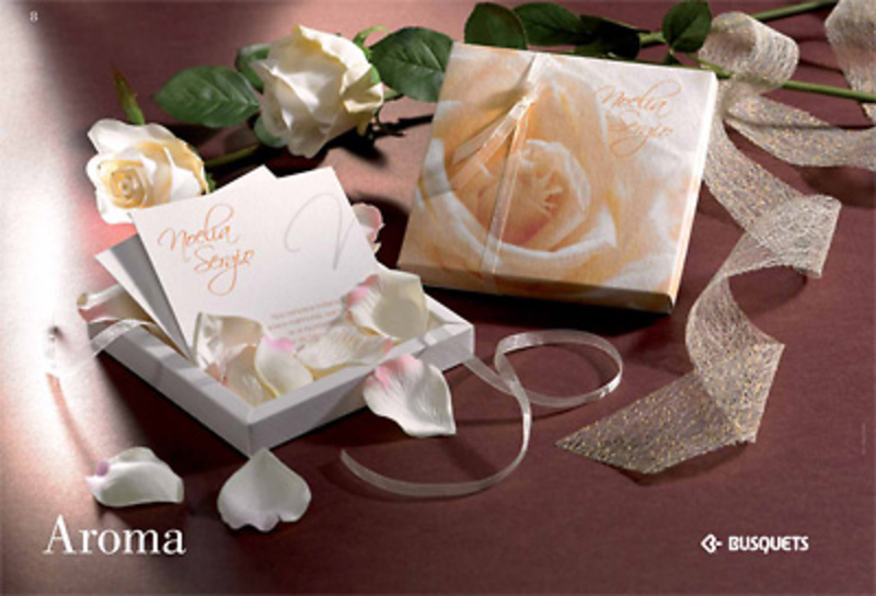 Invitación de boda Aroma Ref.15329 IMPRESION INCLUIDA