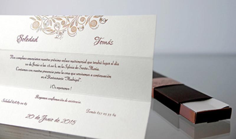Invitación de boda Cardnovel 34939 Impresión GRATIS