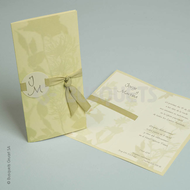 Invitación de boda ref.18949 Impresión GRATIS