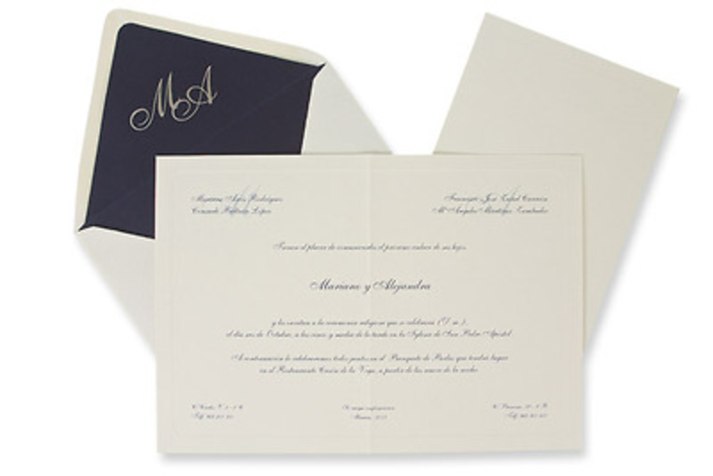 Invitación de boda Ref.100326 Impresión GRATIS