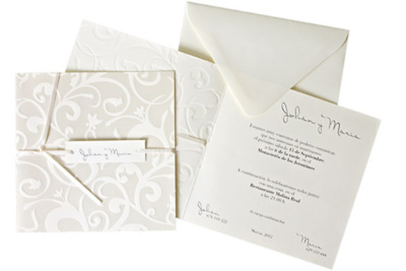 Invitación de boda Ref.100531 IMPRESION GRATIS