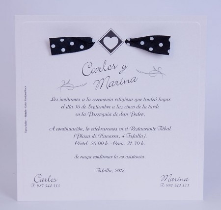 Invitación de boda Ref.100728 IMPRESION GRATIS