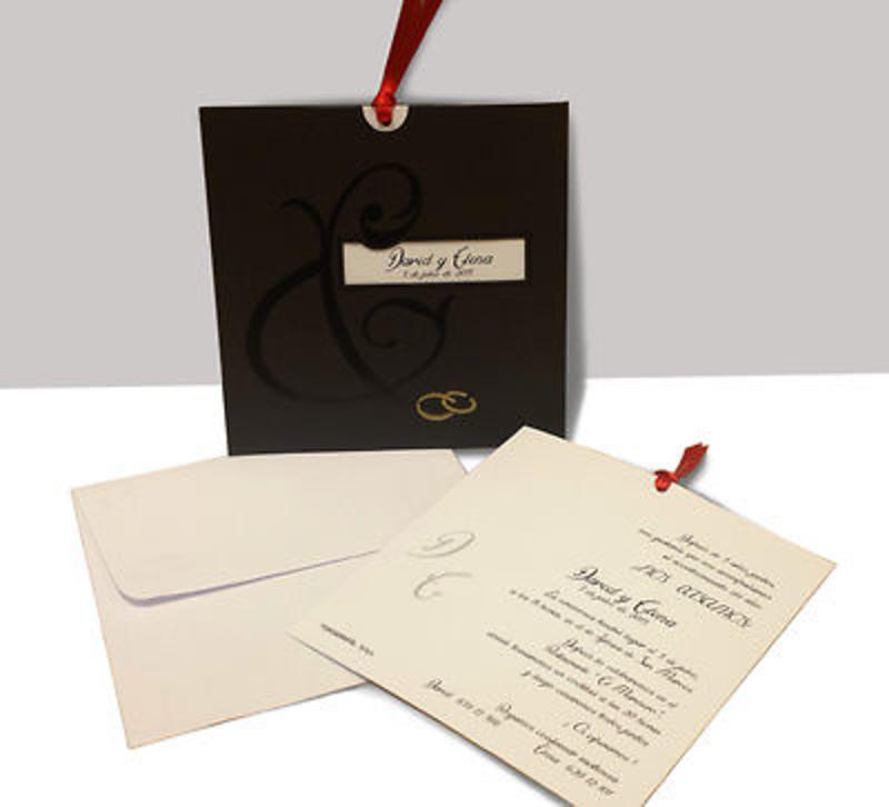 Invitación de boda alianzas ref.9016.