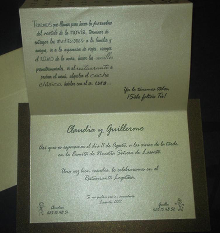 Invitación de boda calendario Ref.20003 - IMPRESION GRATIS