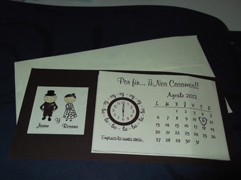 Invitación de boda calendario Ref.40004 - IMPRESION GRATIS