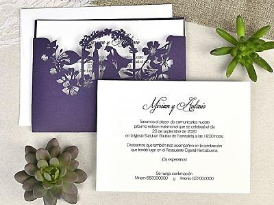 Invitación de boda cardnovel 39625