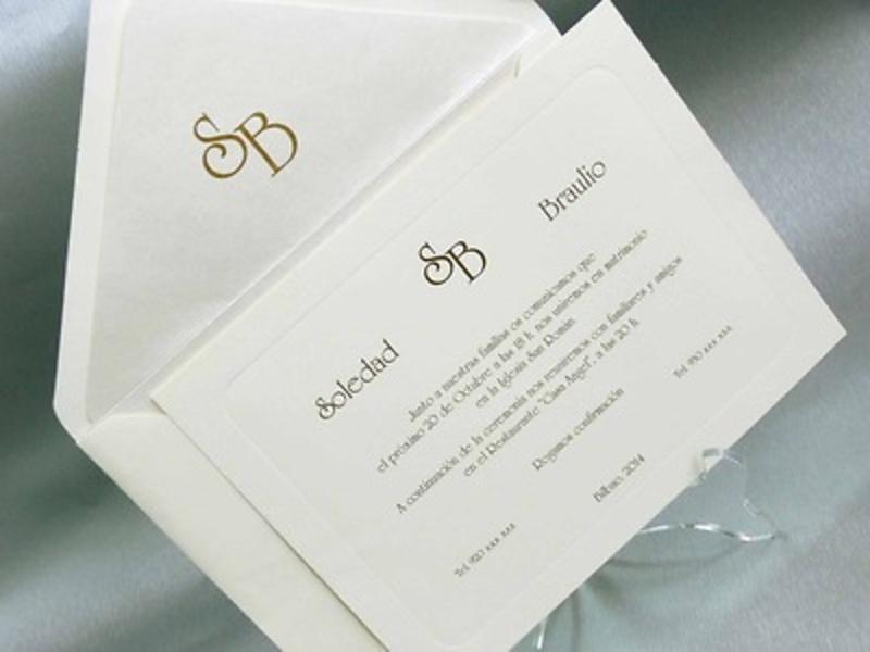Invitación de boda cardnovel REf.32837 IMPRESION GRATIS