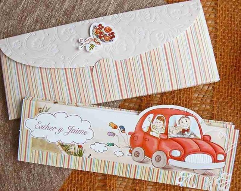 Invitación de boda cardnovel Ref.32410 Impresión GRATIS
