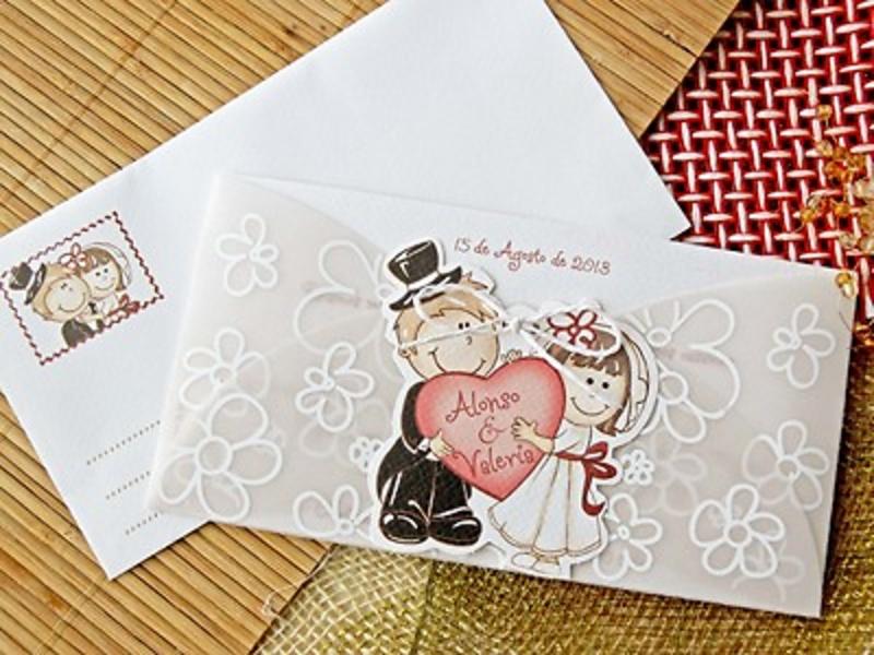 Invitación de boda cardnovel Ref.32706 - Impresión GRATIS
