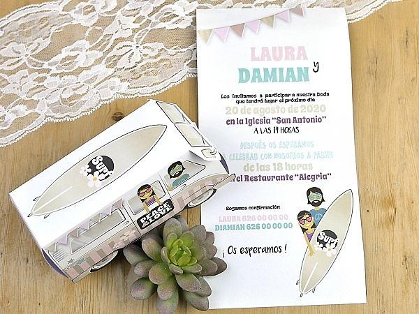 Invitación de boda cardnovel Ref.32721 Impresión GRATIS