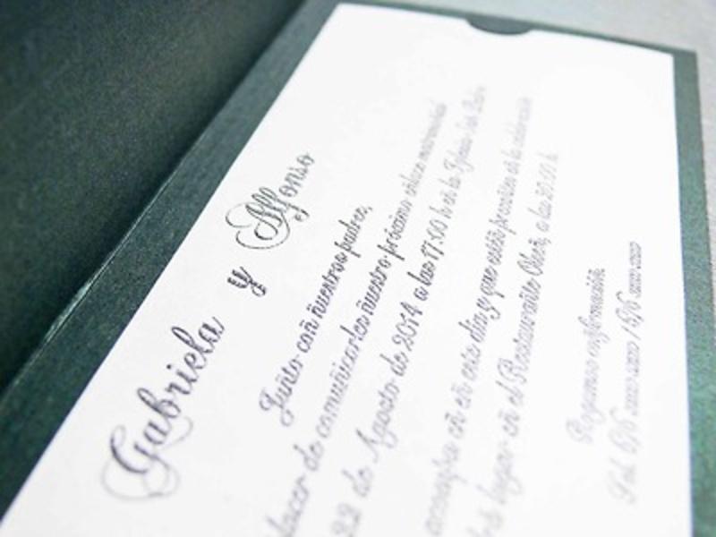 Invitación de boda cardnovel Ref.32808 IMPRESION GRATIS