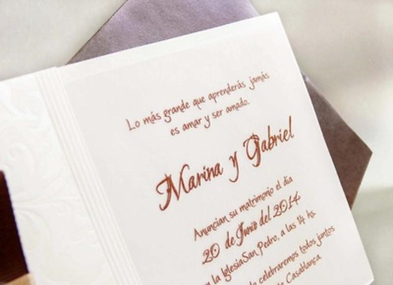Invitación de boda cardnovel Ref.32811 IMPRESION GRATIS