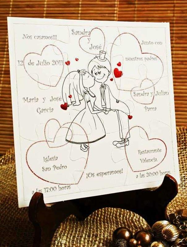 Invitación de boda cardnovel puzzle Ref.32422 Impresión GRATIS