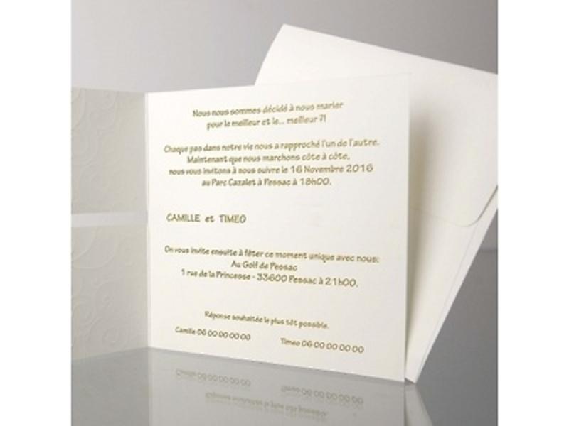 Invitación de boda cardnovel ref.32804.