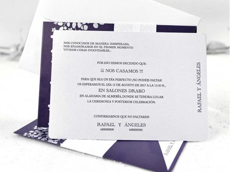Invitación de boda cardnovel ref.39111
