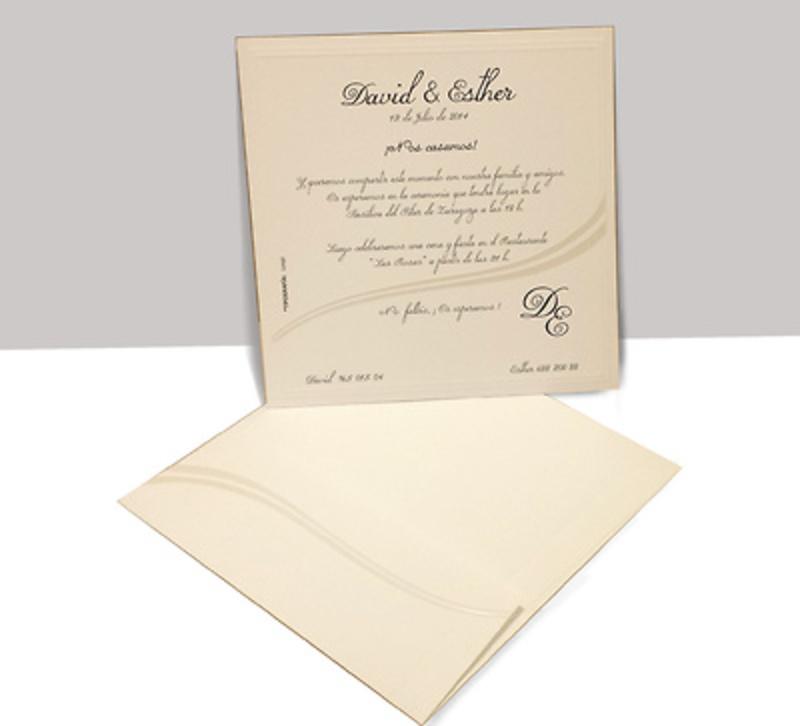 Invitación de boda clásica ref.9006.