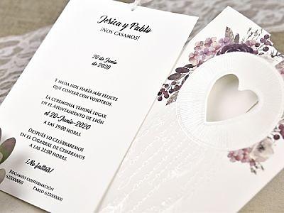 Invitación de boda corazón 39615