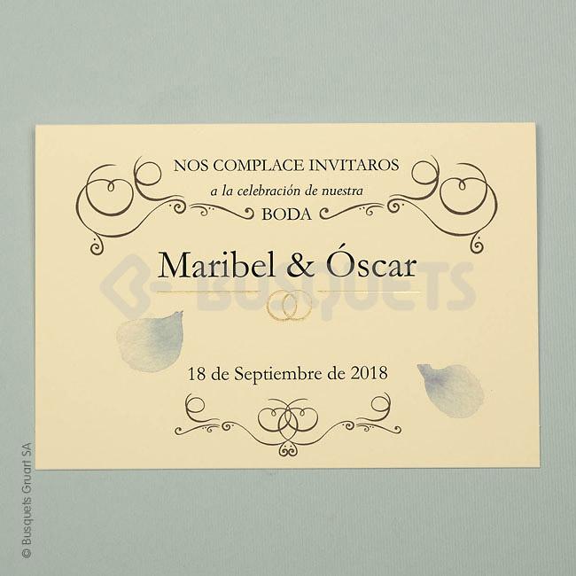 Invitación de boda Ref.18926 Impresión GRATIS
